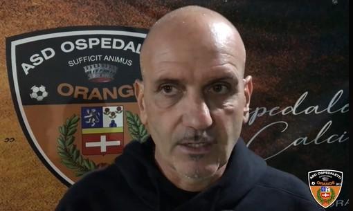 """Calcio, Ospedaletti. Caverzan plaude gli orange: """"Energie non al massimo, ma abbiamo creato più dell'Albenga. Giusto fermarsi e onorare i vigili del fuoco"""""""