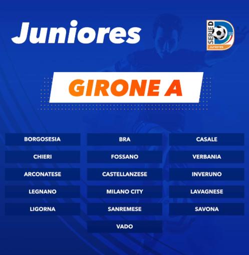 Calcio, Juniores Nazionali. Savona, Vado e Sanremese nel gruppo A. Si parte il 14 settembre