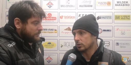"""Calcio, Albenga. Solari ritrova punti e prestazione: """"I ragazzi hanno tirato fuori gli attributi, alleno un gruppo perbene"""" (VIDEO)"""