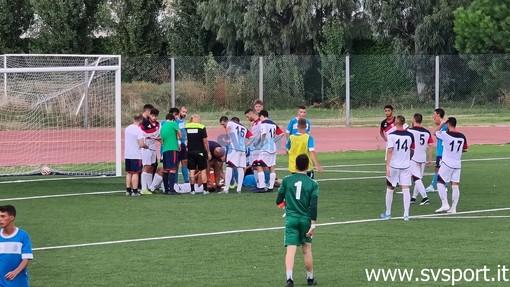 Calcio, Vado - Pietra Ligure. Solo qualche punto di sutura per Alessandro Casazza e Gambetta, dopo il violento scontro di ieri pomeriggio