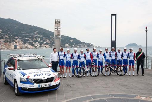 Ciclismo: la Groupama-FDJ si allena ad Alassio in vista del Trofeo Laigueglia (FOTO)