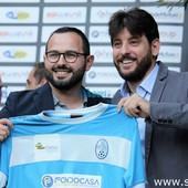 il direttore generale, Luca Filadelli, insieme al direttore sportivo, Roberto Vassallo
