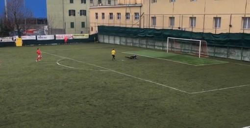 Calcio, Cairese: doppio mancino di Saviozzi, i gialloblu battono a domicilio la Genova Calcio (VIDEO)