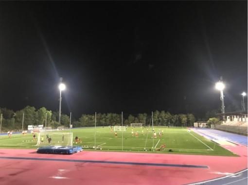 Calcio, Celle Riviera. All'Olmo Ferro arriva una nuova illuminazione a led