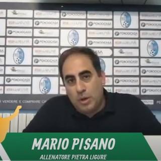 """Calcio, Pietra Ligure. Ancora una rimonta subita ma mister Pisano è sicuro: """"Con la Cairese puniti da episodi, nessuna affinità con il Ventimiglia"""" (VIDEO)"""