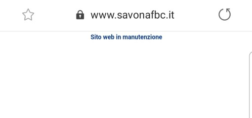 Calcio, Savona. Anche il sito ufficiale è ko