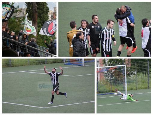 Calcio, Sammargheritese- Albenga: le foto del ritorno playout e della festa ingauna (GALLERY)