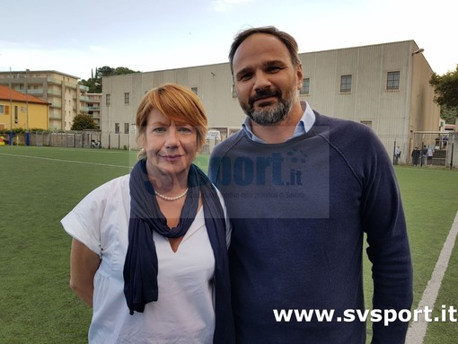 Francesco Perasso con la presidentessa onoraria Claudia Fantino Colla