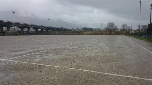 Calcio, Prima Categoria: Massabò allagato, rinviata Pontelungo - Celle Ligure
