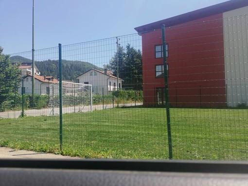 Calizzano, un nuovo campetto da calcio in erba naturale