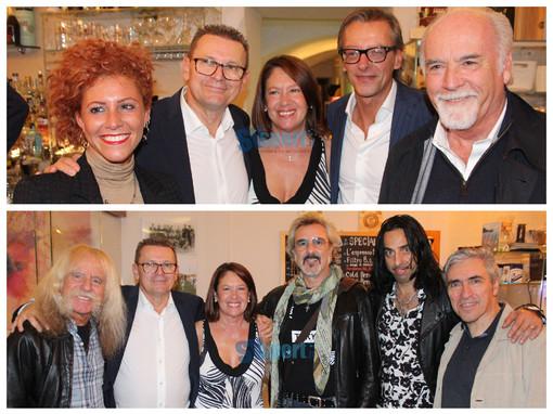FOTONOTIZIA, Albenga: anche Antonio Ricci e i New Trolls hanno partecipato all'inaugurazione del Point bianconero