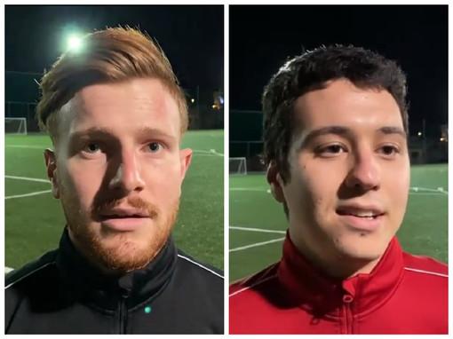"""Calcio, Ospedaletti. Aretuso e Brizio all'unisono: """"Non è facile allenarsi senza l'obiettivo della partita. Se ripartiremo lo faremo al meglio"""" (VIDEO)"""