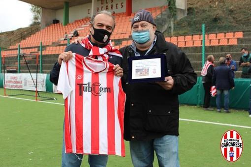 Calcio, Olimpia Carcarese: arriva a sorpresa la nomina di Marco Sardo a presidente onorario (FOTOGALLERY)