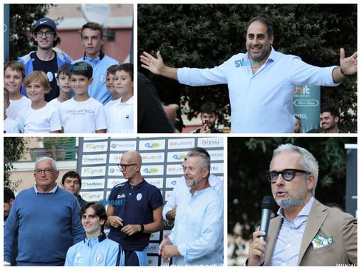 Calcio, Pietra Ligure. Gli scatti più belli della presentazione in piazza San Nicolò (FOTOGALLERY)