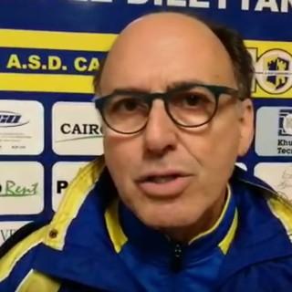 """Calcio, Cairese. Maisano a tutto tondo: """"Inutile appellarsi alle occasioni fallite quanto perdi 3-0, ci tengo a complimentarmi con il presidente Giulio Ivaldi"""" (VIDEO)"""