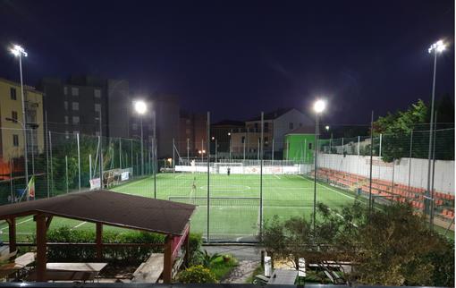 Calcio, Veloce. Arrivano i led per i riflettori del campo di Via Tissoni