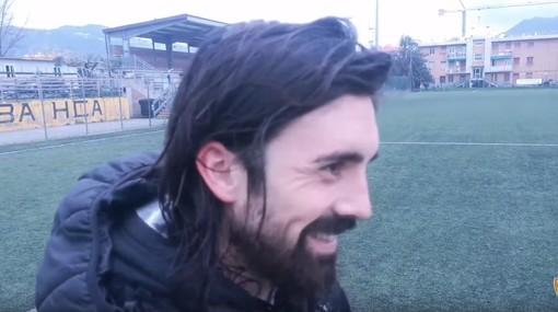 """Calcio, Albenga. Filippo Brondi racconta i primi mesi in bianconero: """"Qui per un risultato storico, inserirsi in questo gruppo è stato facile"""" (VIDEO)"""