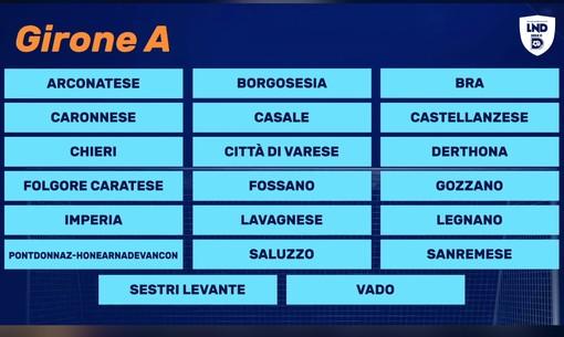 Calcio, Serie D: ufficializzato il Girone A, ecco le avversarie di Vado, Sanremese e Imperia