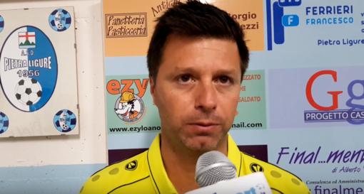 """Calcio, Alassio FC. Lavori in corso per Christian Cattardico: """"Il Pietra non è al momento il nostro banco di prova, ma ho visto progressi importanti"""" (VIDEO)"""