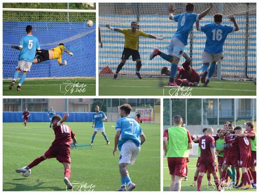 Calcio, Pietra Ligure - Ventimiglia 2-3: riviviamo il successo granata negli scatti di Giulia Intili