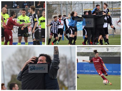 Calcio, Albenga - Ventimiglia: gli ingauni fanno loro lo scontro salvezza, la fotogallery di Giulia Intili