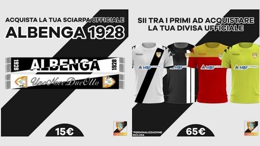 Calcio, Albenga. E' disponibile all'acquisto il merchandising personalizzabile