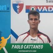 """Calcio, Vado. Doppietta all'esordio per Paolo Cattaneo: """"Una bella emozione le prime reti tra i grandi, dedico i gol alla mia famiglia"""" (VIDEO)"""