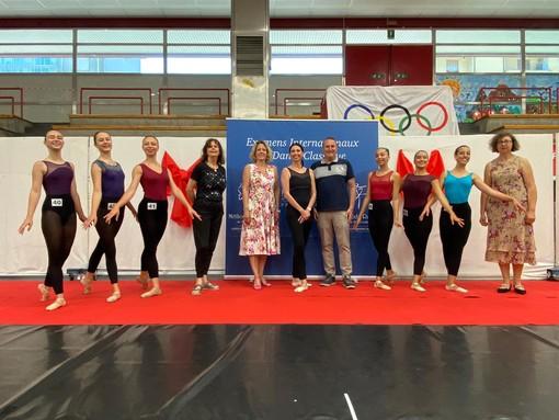 Il Palazzetto di Quiliano ha ospitato Lorena Baricalla e gli Esami Internazionali di Danza Classica