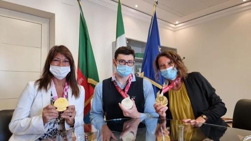 Paralimpiadi. Visita in Regione Liguria per il bicampione Francesco Bocciardo