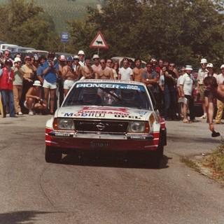 Gabriele Noberasco, con una BMW M3 (anno 1981)