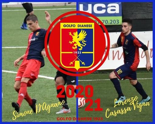 Calcio: Simone D'Agnano e Lorenzo Casassa Vigna in rossoblu, dure 'frecce' importanti per il Golfodianese