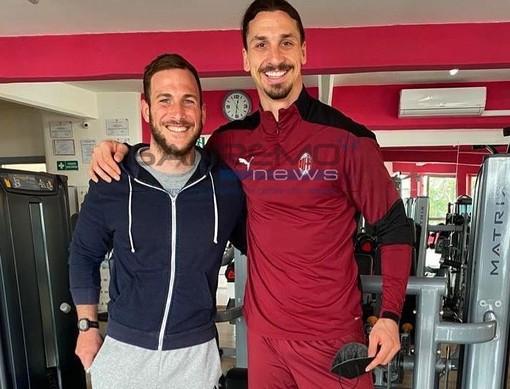 Sanremo: per Ibrahimovic tre giorni di allenamenti alla 'New Life Fitness' con il personal trainer sanremese Luca Bruna (Foto e video)