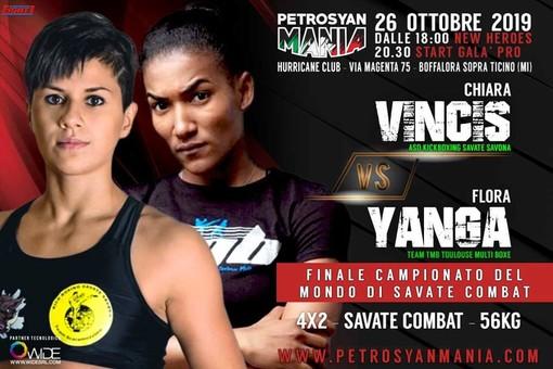 Savate: Milano chiama Chiara Vincis, il 26 ottobre sarà finale iridata contro Flora Yanga