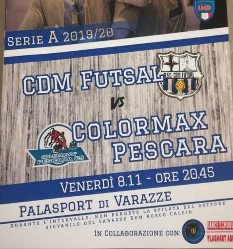 Futsal: alle 20:45 a Varazze scatta Cdm - Colormax Pescara