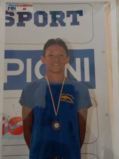 Rari Nantes Cairo Acqui: quattro medaglie per Carozzo ai campioneti regionali Esordienti A
