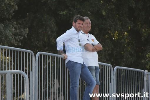 Il neo direttore sportivo finalese Peluffo, a sinistra, col team manager Grippo