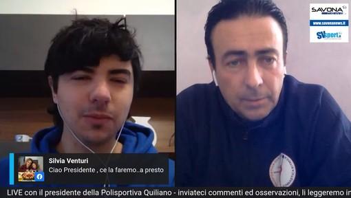 """Coronavirus. Il presidente della Polisportiva Quiliano esorta le società: """"Non mollate, ne usciremo più forti di prima"""" (VIDEO)"""